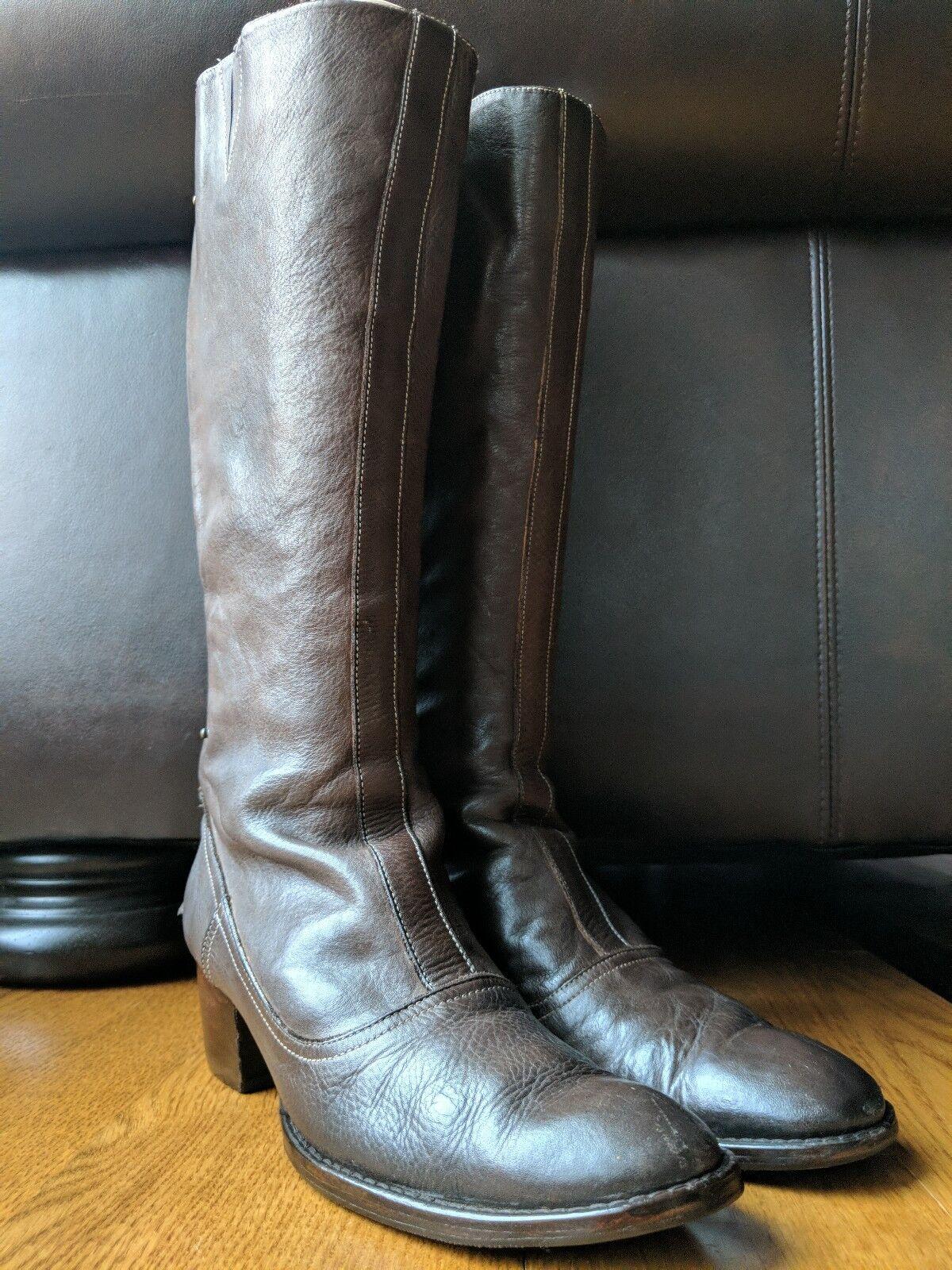 Paul Smith Mujeres Cuero Marrón Marrón Marrón Rodilla Alto botas de cremallera en la espalda talla 41 0ef9d1