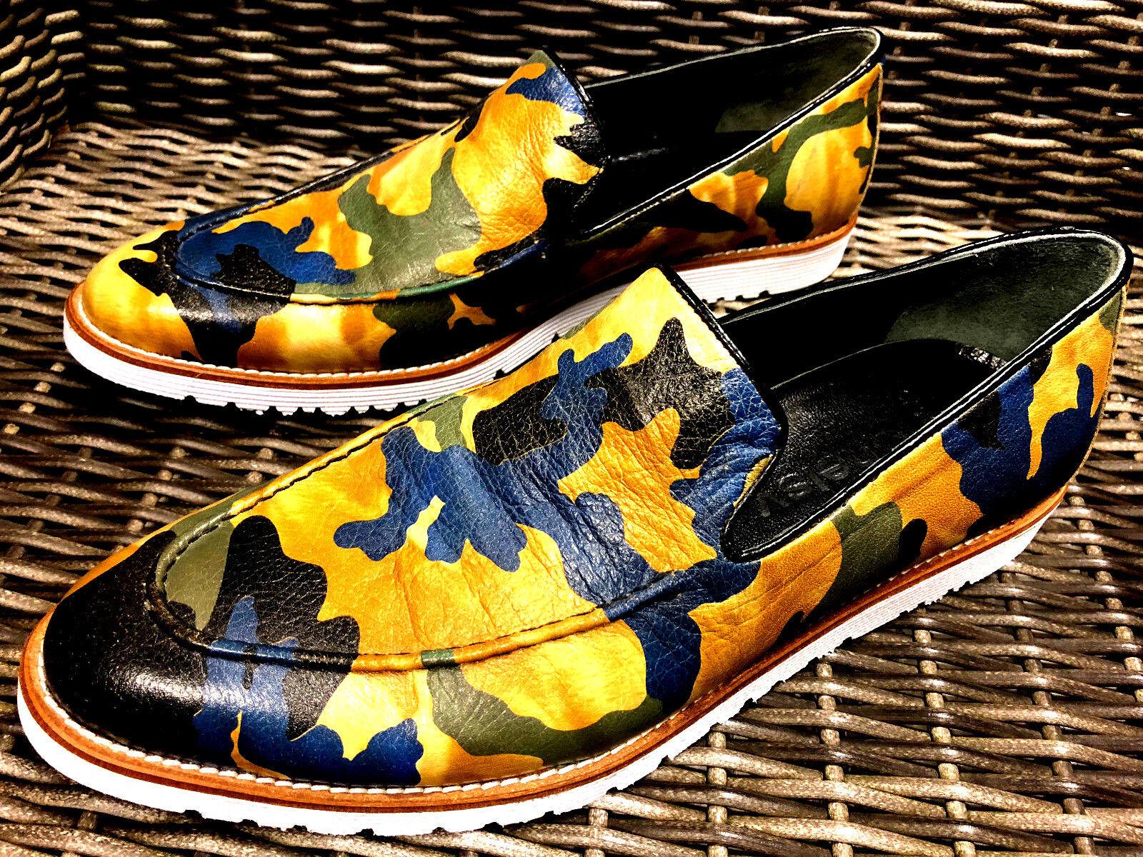 MIMETICO ESERCITO Chelsy Designer Slipper Mocassino mano Mocassini handmade fatto a mano Mocassino bf260e