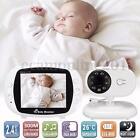 Wireless Digital 3.5'' LCD Baby Monitor Camera Audio Talk Video IR Night Vision