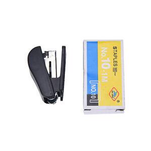 1Pc Mini Office Portable Stapler  Figure Gun Stationery Book + Sewer Staples JP