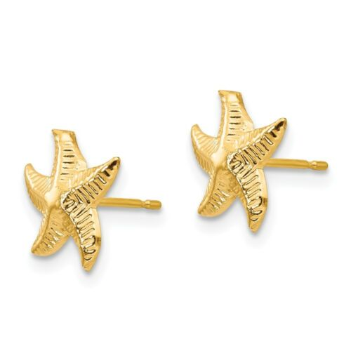 14K Or Jaune Madi K Children/'s 8 Mm étoile De Mer post Boucles d/'oreille fabricants Standard prix de détail $83