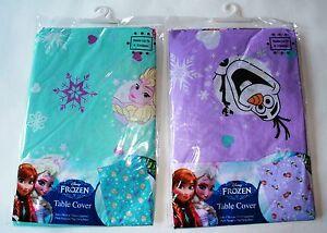 Disney-Frozen-Elsa-Anna-OLAF-cubierta-de-tabla-Fiesta-De-Cumpleanos-Play-Hornear-facil-de-limpiar