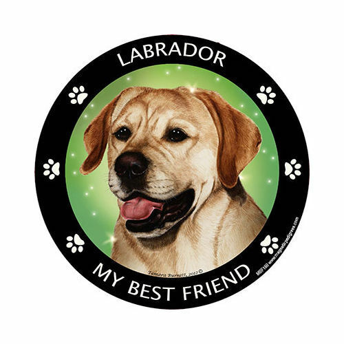 My Labrador Retriever Yellow Is My Best Friend Dog Car Magnet