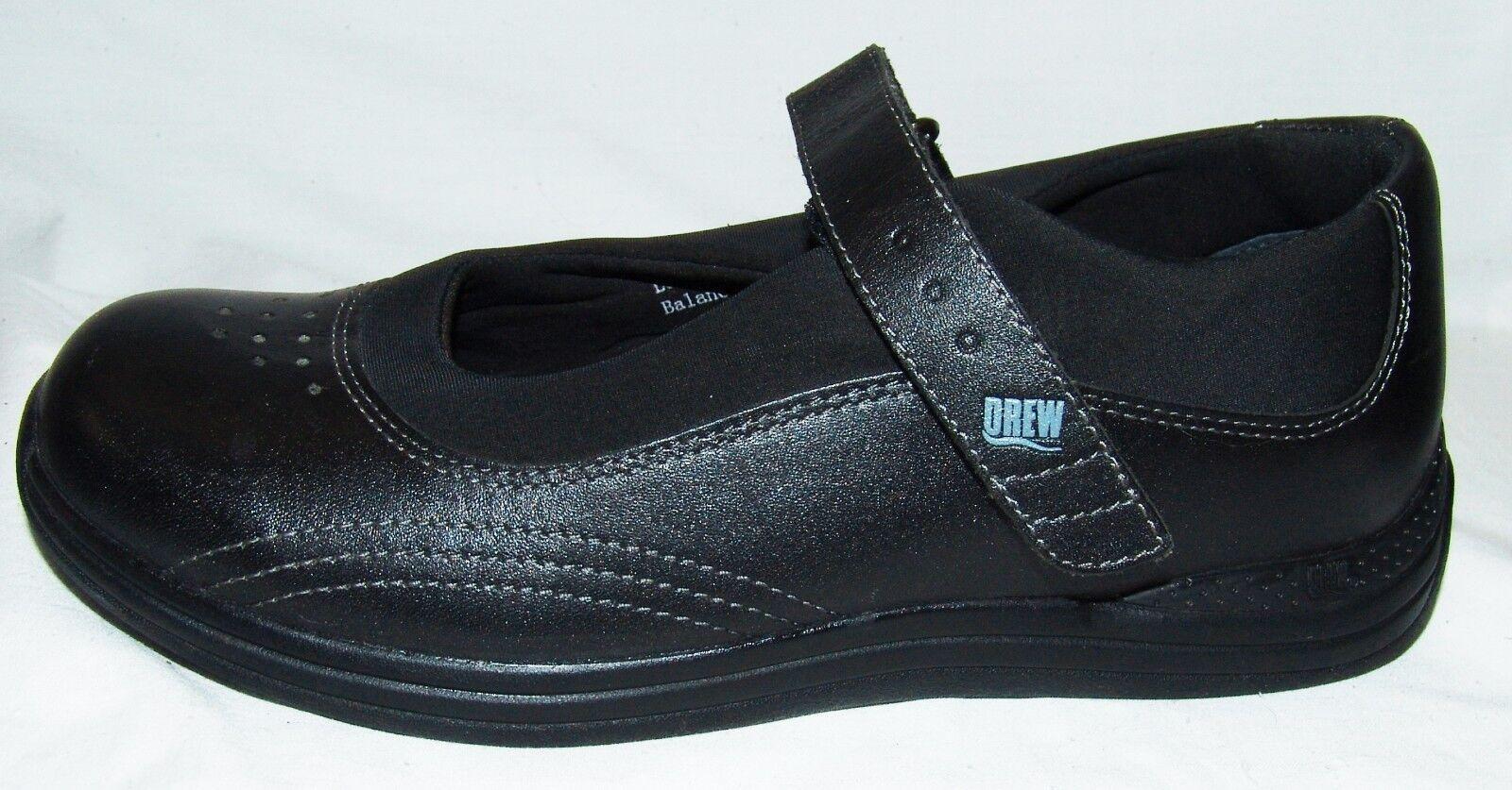 Drew Mary Jane Zapatos Negros de Piel 8M 8M 8M 8M Mujer Ortopédicas Cómodo Active  descuentos y mas