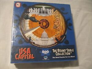 USA Capital 500 Piece Round Table Puzzle