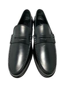 NEW, LOUIS VUITTON MEN'S BLACK SLIP ON DRESS LOAFERS, 9, $1050