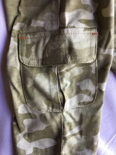 Baby Connection Khaki Camo 2 Piece Set Size 3-6Ms T-Shirt and Pants New