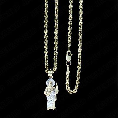 Gold Plated Saint Jude San Judas Pendant Charm with chain St Jude Pendant