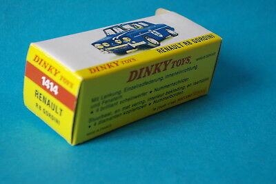 Dinky Toys boîte repro 1414 renault R8 gordini