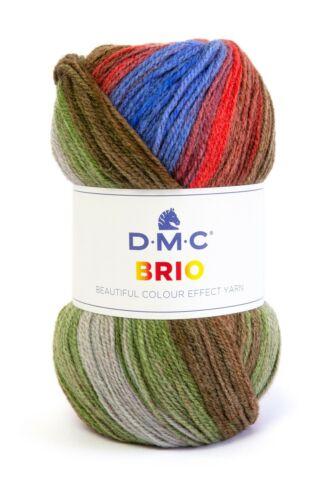 DMC BRIO Gomitolo da 100 gr misto lana SFUMATA maglia uncinetto ferri 4 MT 345