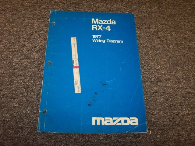 1977 Mazda Rx4 Sedan Factory Original Electrical Wiring