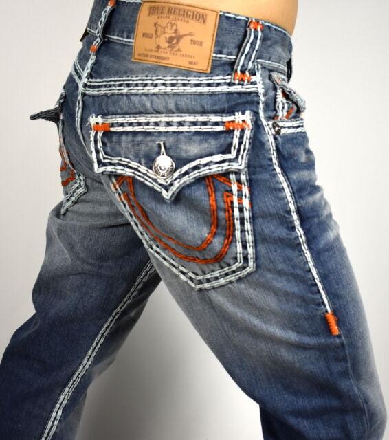 True Religion Men's Hand Picked Straight Super QT Jeans ...