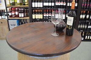 Détails sur Plateau de table rond 80-100cm pour table bar ,tonneau ,tonneau  de vin
