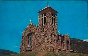 Mescalero-Apache-Indian-Reservation-New-Mexico-St-Josephs-Mission-1950s-Postcard