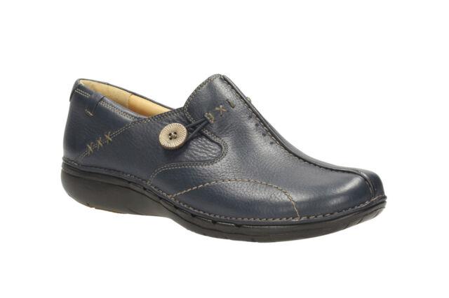 15d4001ebf1d Clarks Un Loop   SALE   Ladies Unstructured Shoes Navy Soft Leather Size 4