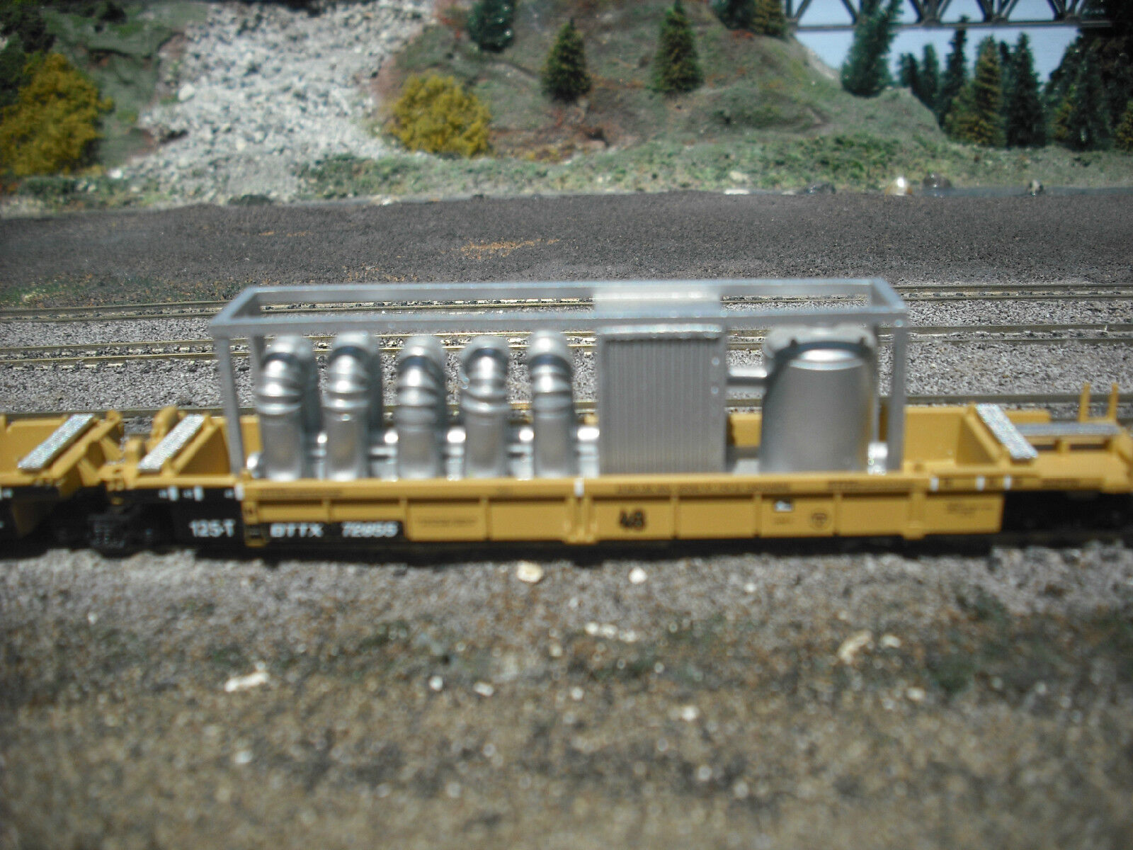 N Scale Container well Car Load Set of 4 Loads