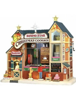 NIB Lemax Rising Star Bakery Cookie Factory Animated Christmas Village Building