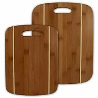 Totally Bamboo 2-piece Stripe Cutting Board Set