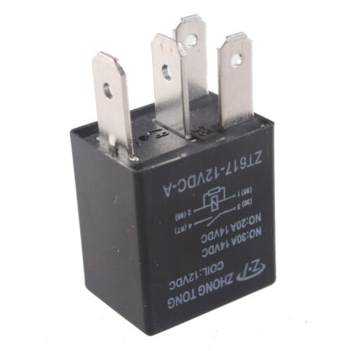 5 X 30a Amp 12v 4pin Car Auto Relay Kit Spst For Fan Fuel