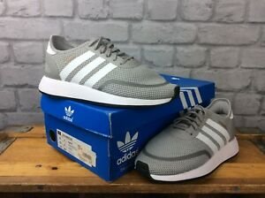 ADIDAS-UK-5-EU-38-N-5923-GREY-WHITE-TRAINERS-CHILDRENS-GIRLS-LADIES-RRP-60