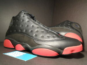 d7808079d4ad64 Nike Air Jordan XIII 13 Retro BLACK GYM RED WHITE DIRTY BRED PLAYOFF ...