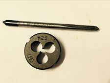 1pc Hss Machine M25 X 045mm Plug Tap And 1pc M25 X 045mm Die Threading Tool