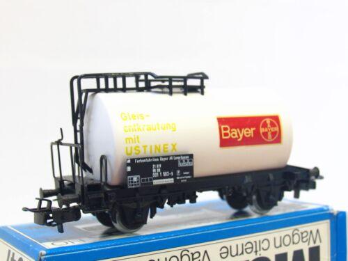 Märklin H0 4647 Kesselwagen Bayer Gleisentkrautung mit Ustinex DB OVP RB4931