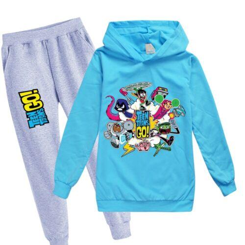 Teen Titans GO Children Boys Hooded Sweatshirt Kids Girl Hoodie Set Tracksuit