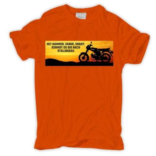 T-shirt 2 Tact Marteau Pince Fil Stalingrad MOTO Vélomoteur Hobby Clé à chocs Ossi