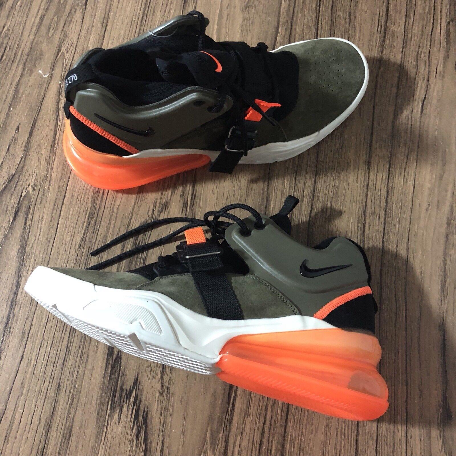 A543 Nike Air Force 270 Sample Olive orange AH6772-200 Size 9 Men's NEW