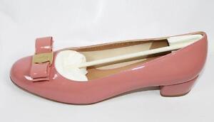 b8a97e66227b3 Image is loading AUTH-Salvatore-Ferragamo-Women-Patent-Leather-Vara-3cm-