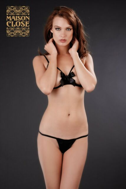 Maison Close Le petit Secret string ouvert fendu noir S M L