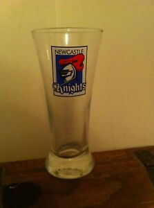 Newcastle Knights Australian rugby league beverage glass NRL Official Licensed