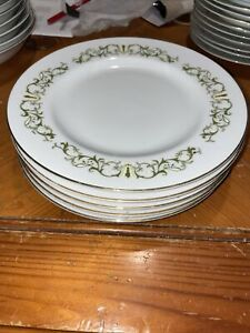 "(5) Bell Flower Fine China of Japan  7 1/2"" Dinner Plates Pattern 2999 Set of 5"