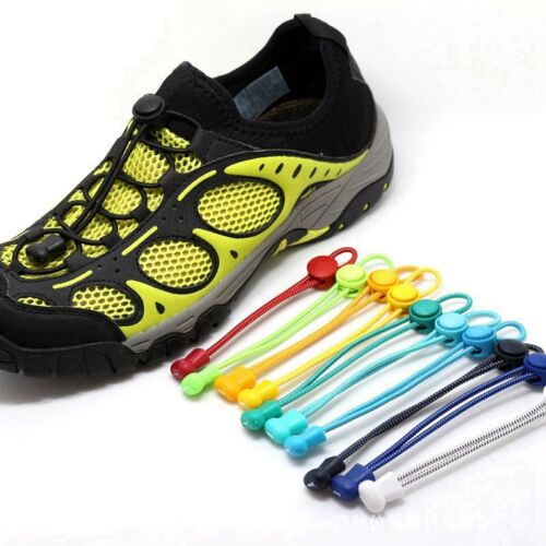 Elastic Laces Lock Shoelaces Running Triathlon Sports Shoe Trainer No Tie Laces