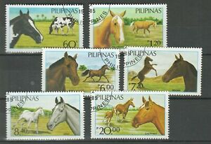Philippines 1670-1675 (complete issue) 1985 ☀ Fauna - Horses ☀ Used set