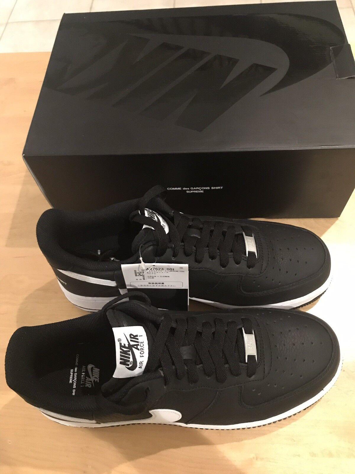 """e643b47cb7b4 Supreme Comme des Garçons SHIRT Nike Air Force Force Force 1 low """"Black"""" DS"""