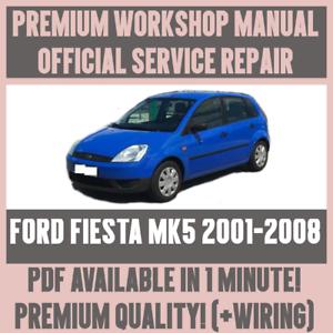 MANUALE Officina Assistenza e Riparazione Guida Per Ford Fiesta MK5 2001-2008 Cablaggio