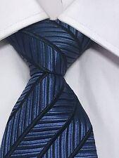 Men's Ermenegildo Zegna Silk Blue Geometric Neck Tie Made in Italy