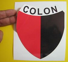 "BEST PRICE! LOT OF 10 SOCCER DECAL STICKER COLON DE SANTA FE ARGENTINA 5"" X 5.5"""