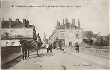 MONTOIRE sur le LOIR (41) - Le Pont sur le Loir - Au fond, l'Eglise