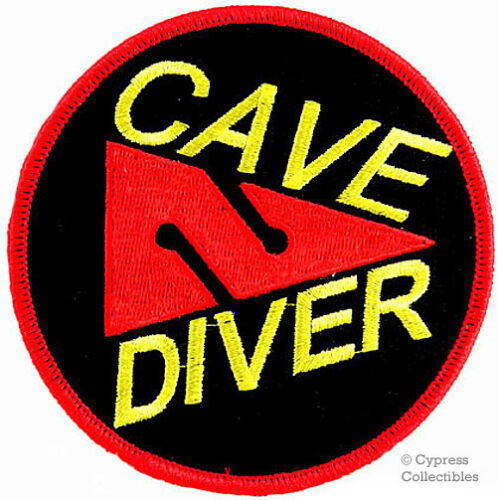 CAVE DIVER EMBROIDERED IRON-ON PATCH SCUBA DIVING EMBROIDERED CAVERN EMBLEM new