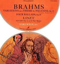 BRAHMS LP VARIATIONS ON A THEME BY PAGANINI LISZT STUDY EARL WILD PIANO