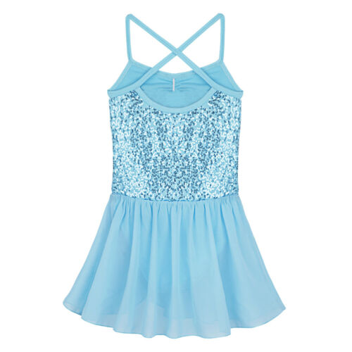 UK Girls Ballet Dance Dress Latin Leotard Tutu Skirt Ballerina Dancewear Costume
