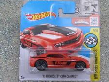 "Hot Wheels 2016 #179/250 2013 CHEVROLET COPO CAMARO orange ""FRAM""  Case A"