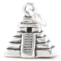 3d Mayan Pyramid 925 Pendant Charm Mexico Mexican Aztec Travel Sterling Silver