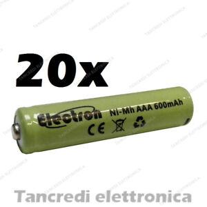 20x-Pila-batteria-ministilo-mini-stilo-ricaricabile-AAA-nimh-600mAh-1-2V-ni-mh
