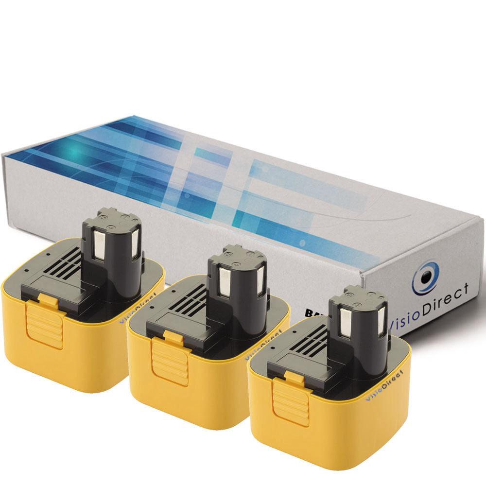 Lot de 3 batteries 12V 3300mAh pour Panasonic EY6100 - Société Française -