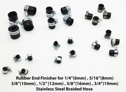 TUBO Intrecciato Gomma fine RIFINITORE con clip in acciaio tutte le dimensioni da 9MM-28MM tubo OD
