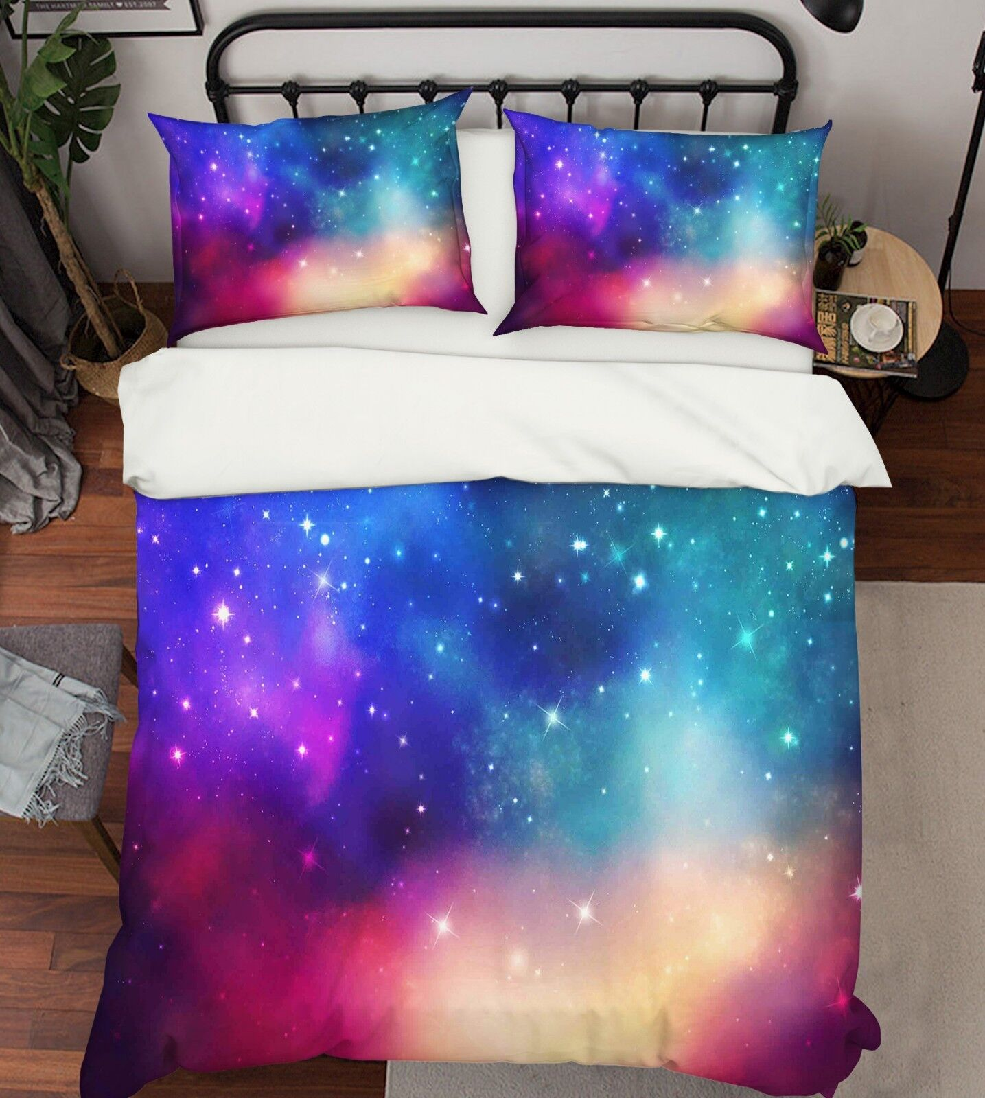 3D Starry Natural 794 Bed Pillowcases Quilt Duvet Cover Set Single Queen King CA